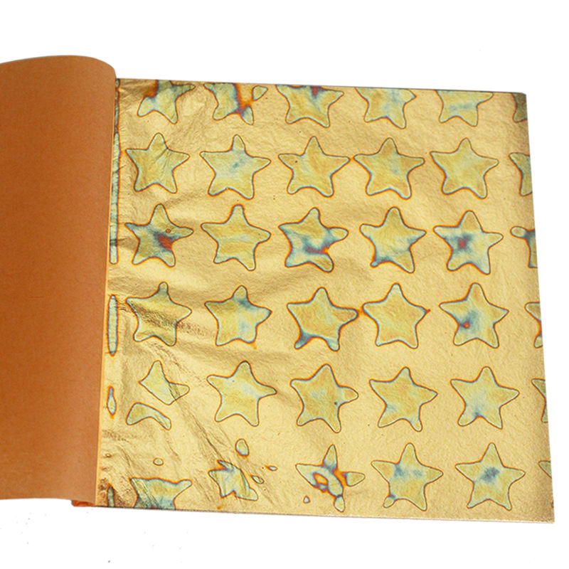 14 X 14 cm Decorating Home wallpaper Variegated Copper Leaf Colorful Copper Leaf Foil Sheets Variegated Gold Leaf Paper