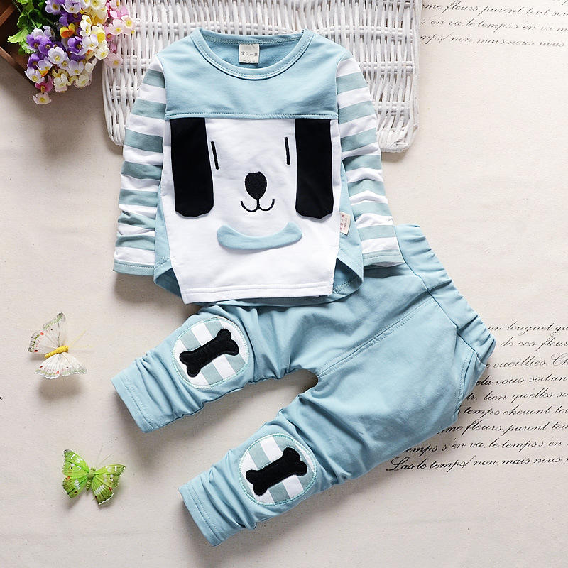 Kids Fashion Korea Style Two Pieces Autumn Wear Suits Good Quality Low Price