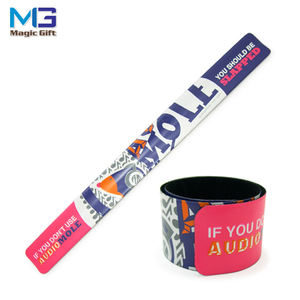 High quality wholesale party reflective PVC velvet slap bracelet for kids