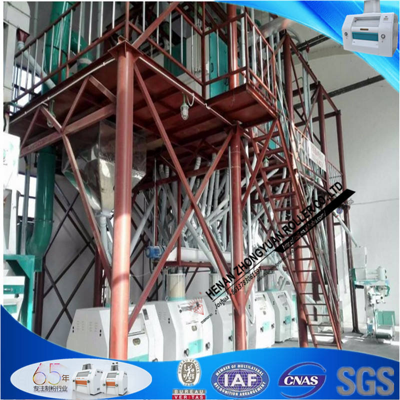 Best Price of 50T Automatic maize flour milling machines for supper maize meal