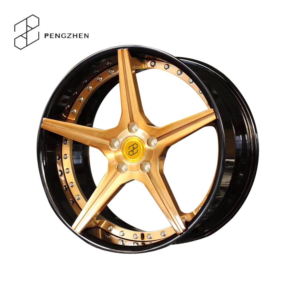 2 Piece Forged 5 Spoke Concave Alloy Wheels