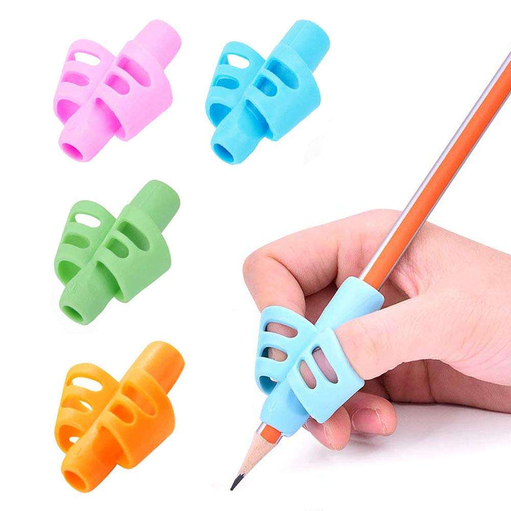 Children Pen Writing Aid Grip Set,high quality pencil grip Correct Wrong Pen Holding and Sitting
