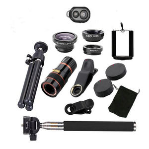 8 in 1 Mobile Camera Lens Kit Includes 8x Zoom Telephoto Manual Focus Cell Phone Camera Lens With Tripod