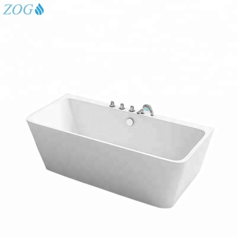 Best Brands Curved Shaped Acrylic Rectangular Bathtub for Sale