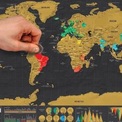 Wholesale Deluxe Scratch Off World Map Poster For Traveling