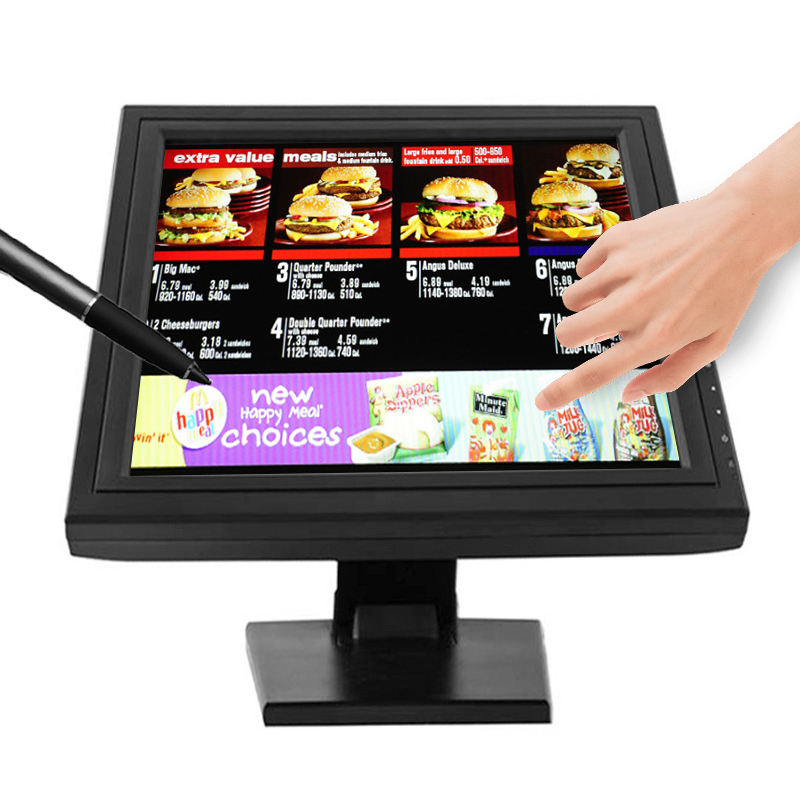 CE ROHS certificated supporting pos Raspberry Pi 12 15 17 inch TFT LCD 10 point touch screen monitors