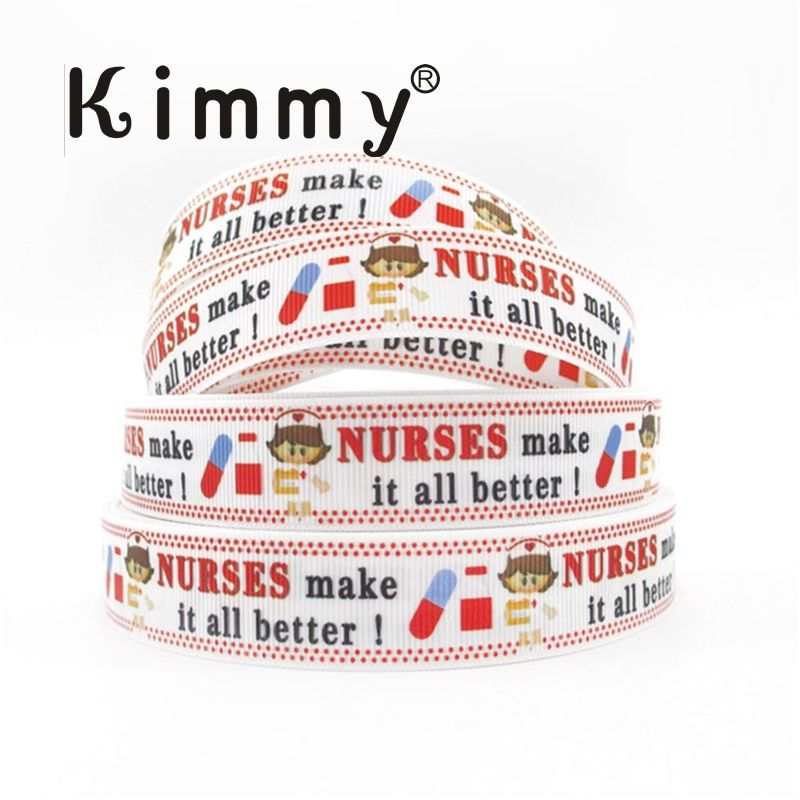 Wedding 1 1 Inch Pround To Be A Nurse Day Grosgrain Ribbon