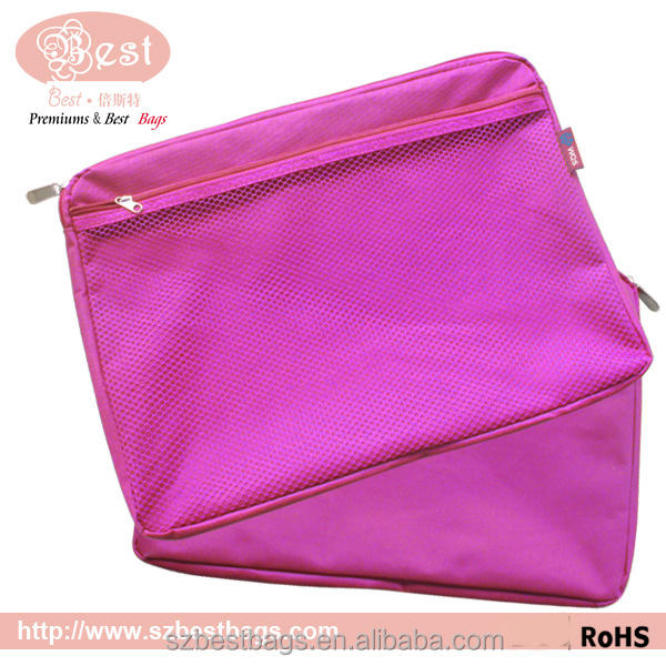 A4 Customized Zipper Wallet Folders Mesh Document Bags for File Storage Paper Organization