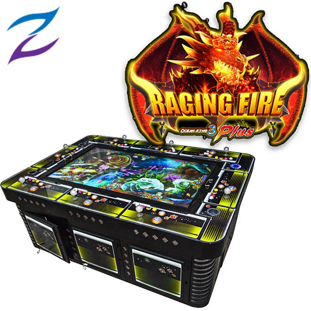 Ocean King 3 Plus Raging Fire Fish Game Table Gambling 2.3.4.6.8.10 Players Fish Hunter Arcade Machine For Sale
