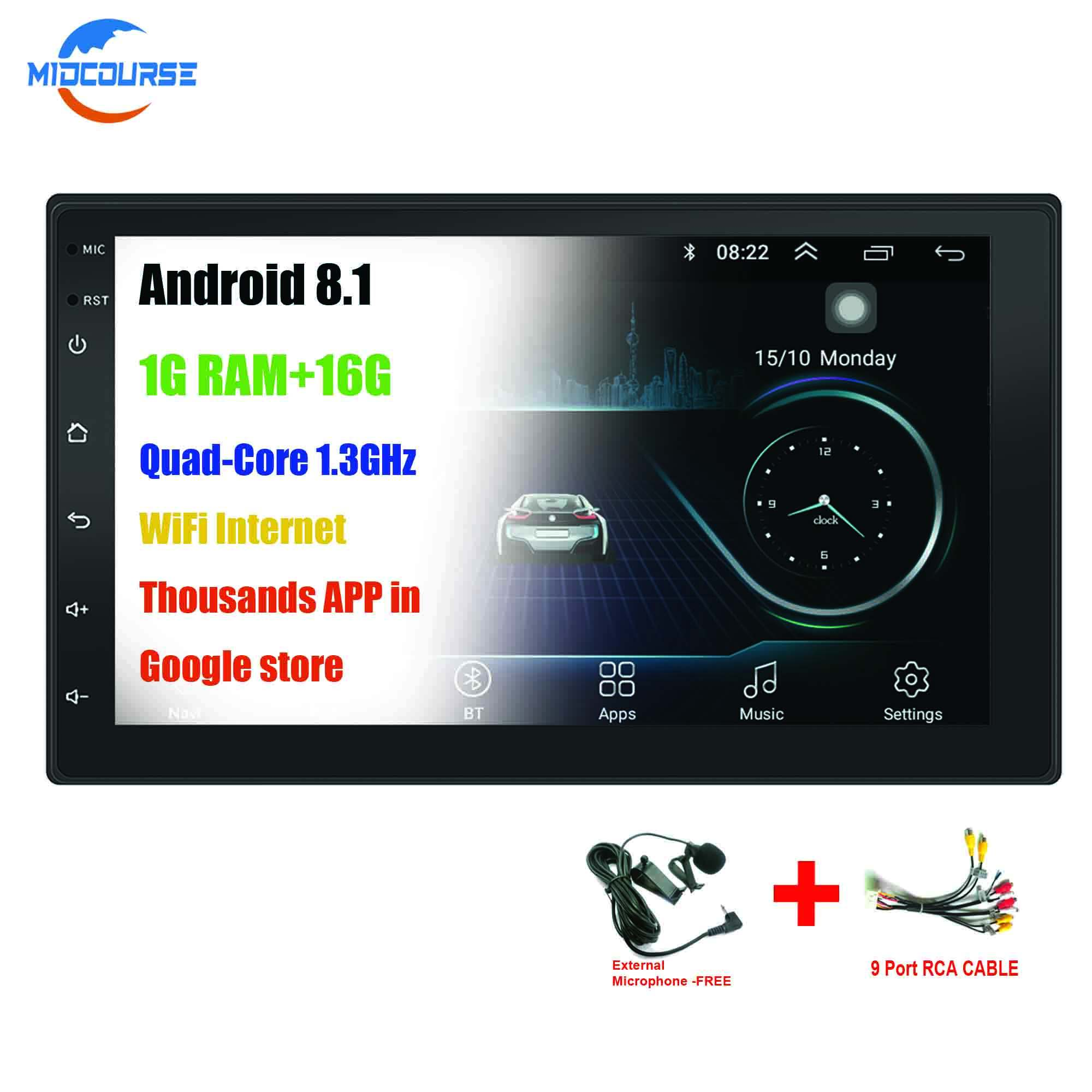 "Android 8.1 Universal 2din Double Din 7"" CAR DVD RADIO STEREO AUDIO MP5 GPS Navigation Multimedia PLAYER"