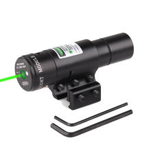 Mini Green Laser Sight Pointer with 11/20mm Dovetail Pistol Green Laser Pointer for hunting gun
