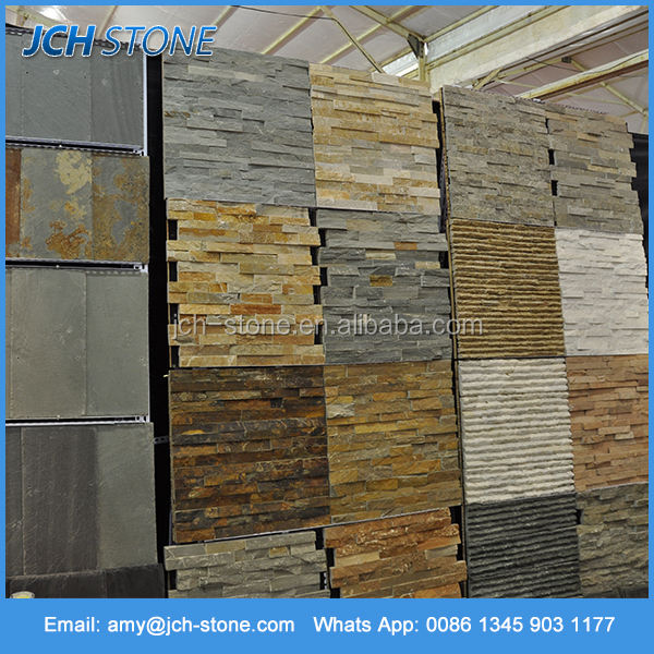 High quality cheap price natural slate cultured stone for wall decoration