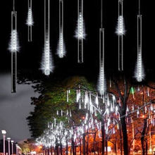 30/50cm Meteor Shower Rain LED String Lights for Holiday In/Outdoor Garden Patio Xmas Christmas Party Garland Decor