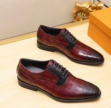 Fashion cow genuine leather men's dress shoes , stylish leather italian men oxford shoes