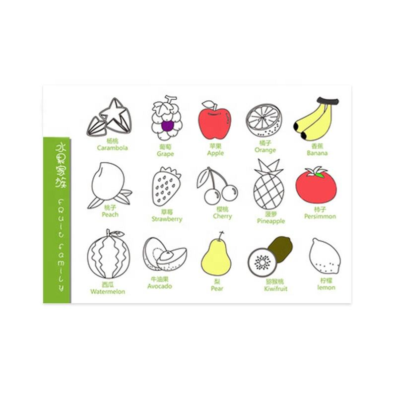 Eco-friendly Fruit Pattern Silicone Magic Doodle Drawing Mat for Kids