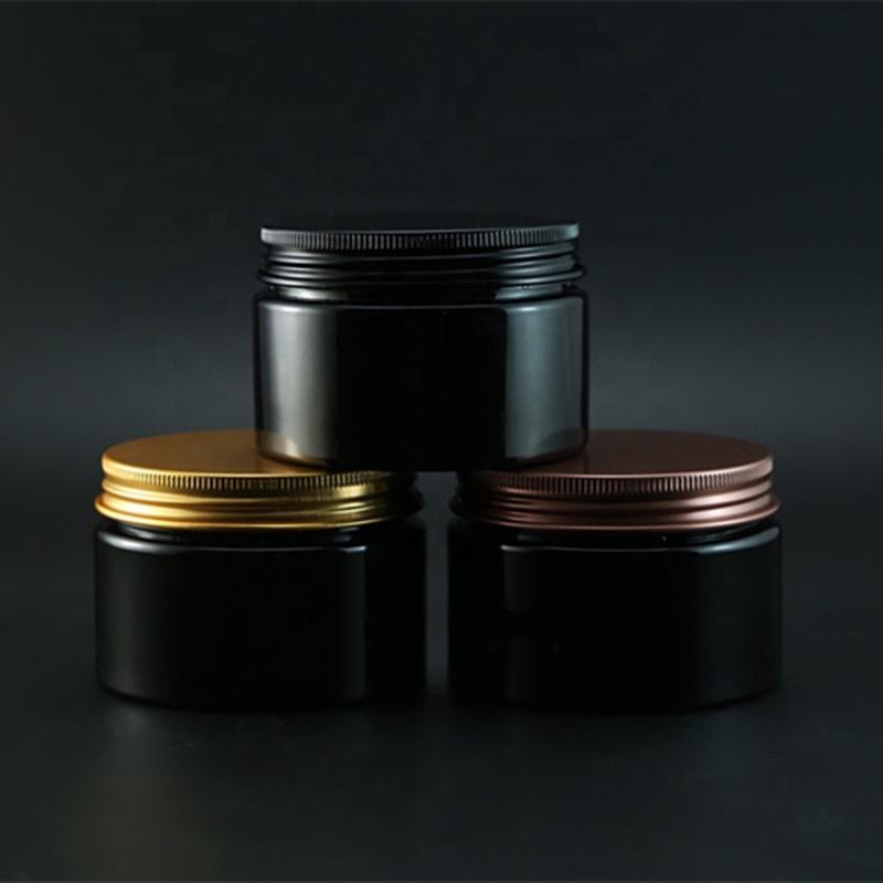 Empty Cosmetic Container Facial 30g 50g 100g 150g 250g soild black PET Plastic lotion cream jar