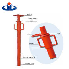 Stable adjustable concrete steel props metal supporting shoring props For Africa market