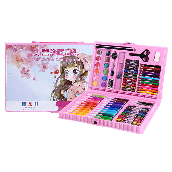 kids rainbow paint art set drawing supplies