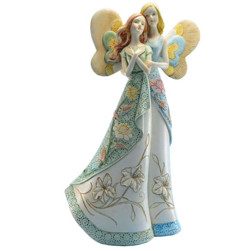 Wholesale Polyresin angels with wings gift and crafts decoration