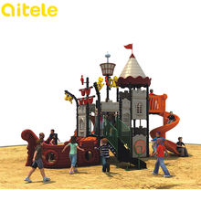 QITELE wholesale anti-static outdoor plastic pirate ship toys ship playground playsets equipment