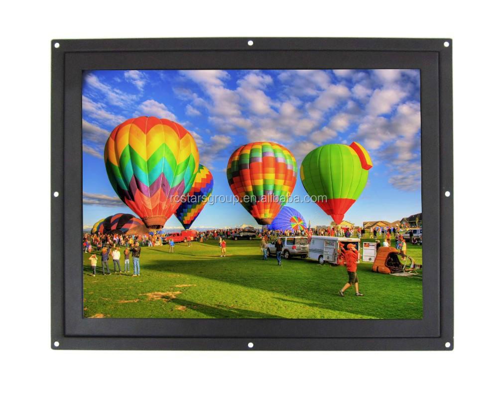 Pequeño monitor lcd hdmi, 12.1 pulgadas marco abierto lcd monitor industrial