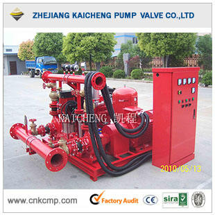 Electric Fire Main Pump and Diesel Pump Standby with Jockey Pump
