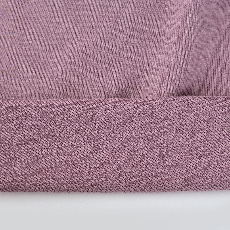 Wholesale thick fleece sweatshirt 70 cotton 30 polyester fabric for winter