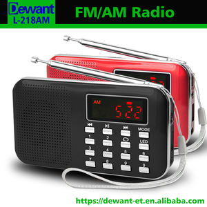 Venda de fábrica L-218AM mais vendidos rádio digital am fm mini bolso com usb