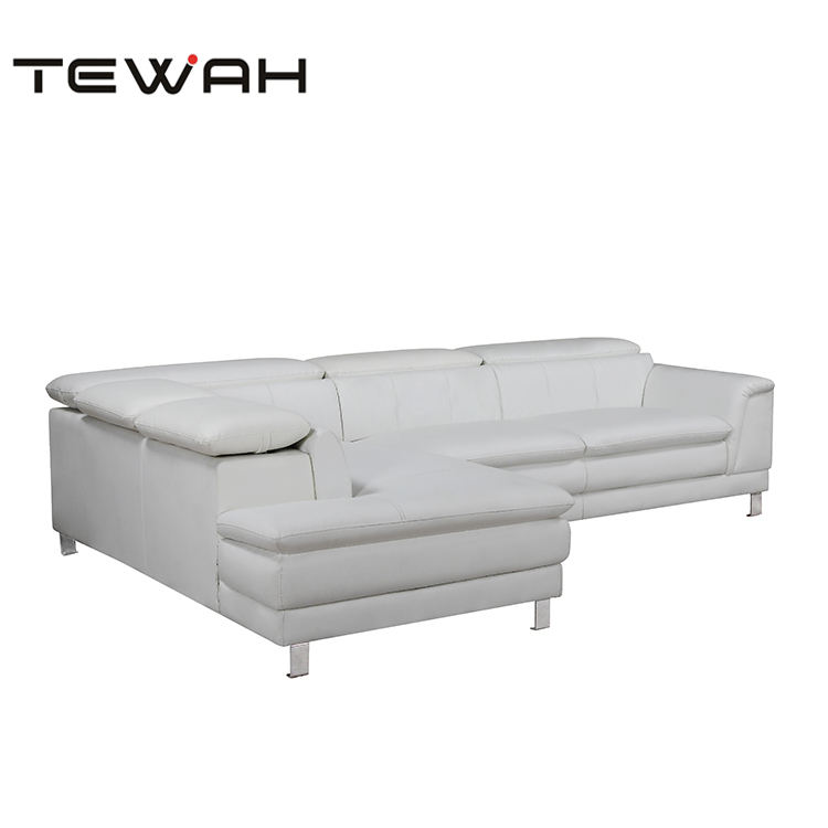 Tewah living room upholstered indoor classic furniture white sectional couch wholesale price sofas