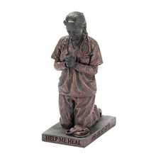 Praying Nurse Resin Stone Collectible Female Figurines