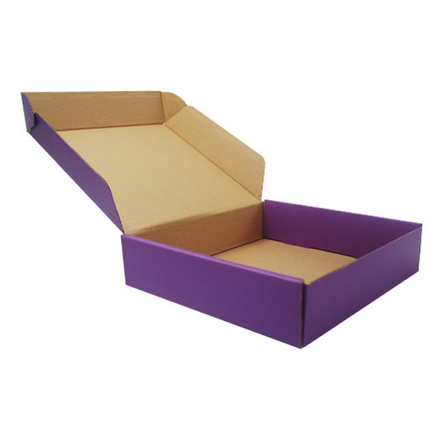 Glossy Flat Packed Corrugated Cardboard Shipping Boxes for Suits