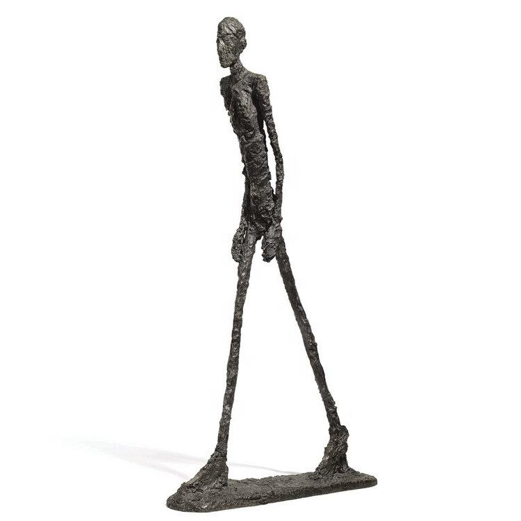antique bronze man striding sculpture for giacometti's work