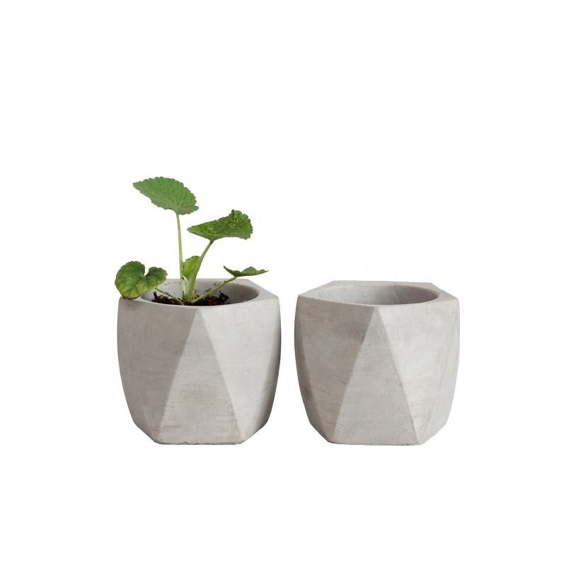 Geometry simple nordic cheap cement flower pot for wholesale