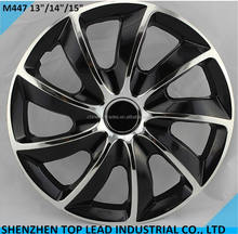 "High Quality ABS or PP material  Black and Chrome Car Wheel Covers 13""14""15"""