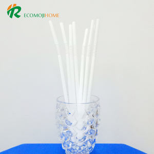 100% Biodegradable compostable PLA material ecofriendly bendable white flexible drinking PLA straws