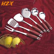 New kitchen supplies products heat resistant 6 pcs bakelite handle steel utensils, kitchen wares cooking tools