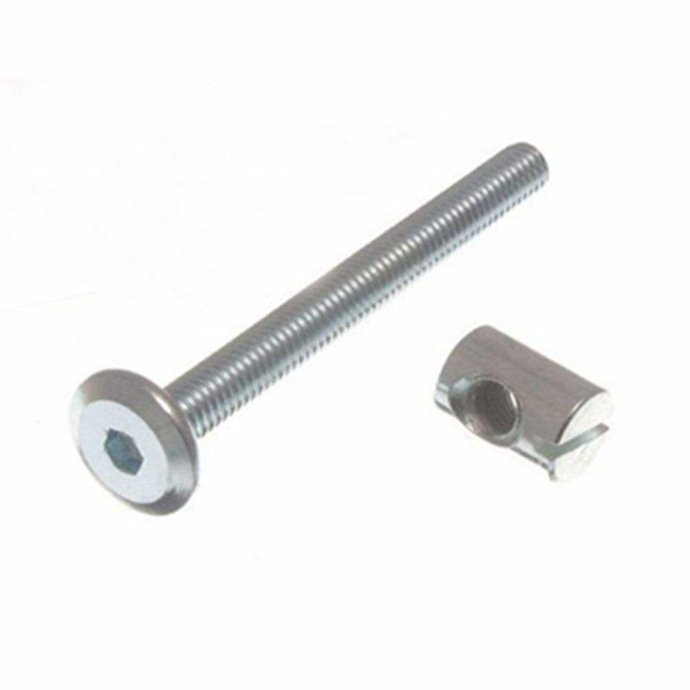 Furniture Cot Bed Bolt Allen Head With Barrel Nut 6Mm M6 long bed screw Bolts 110 mm Long 1/4 Thread