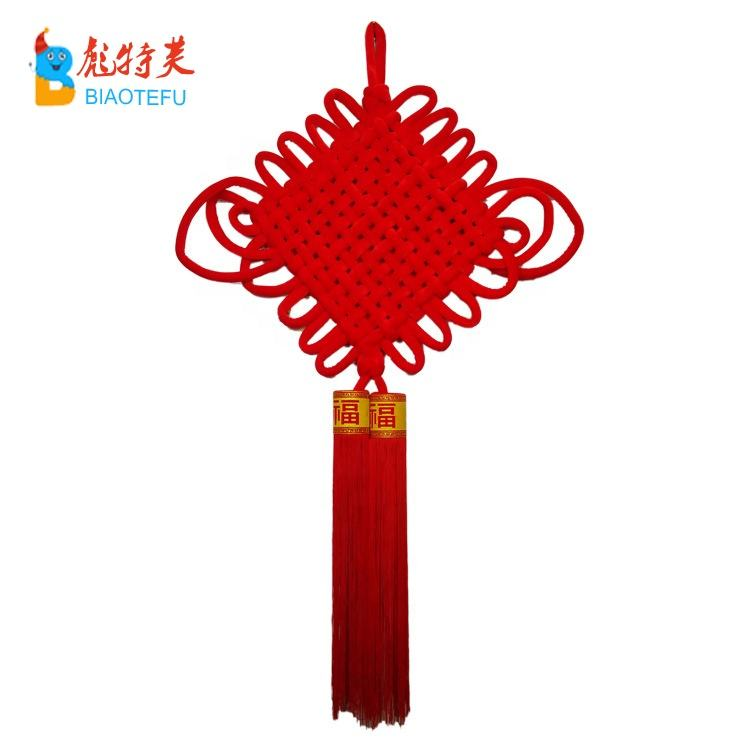 Best selling handcrafts kwastje rode Chinese knoop