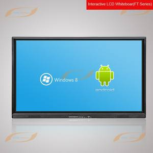 Creworld nuevo diseño 55 ''digital interactiva lcd pizarra con Windows y Android sistema dual