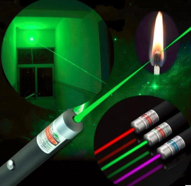 Powerful Green Red Blue Laser Pointer Pen Beam Light 5mW Professional Military High Power Presenter lazer