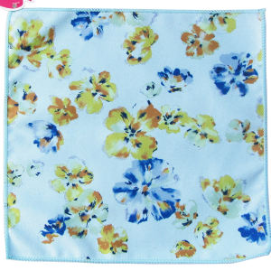 custom 100% polyester microfiber hand towel reactive printing China factory