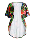 Women sex girls printed long sleeve coat beach wrap dress two-piece suit for summer