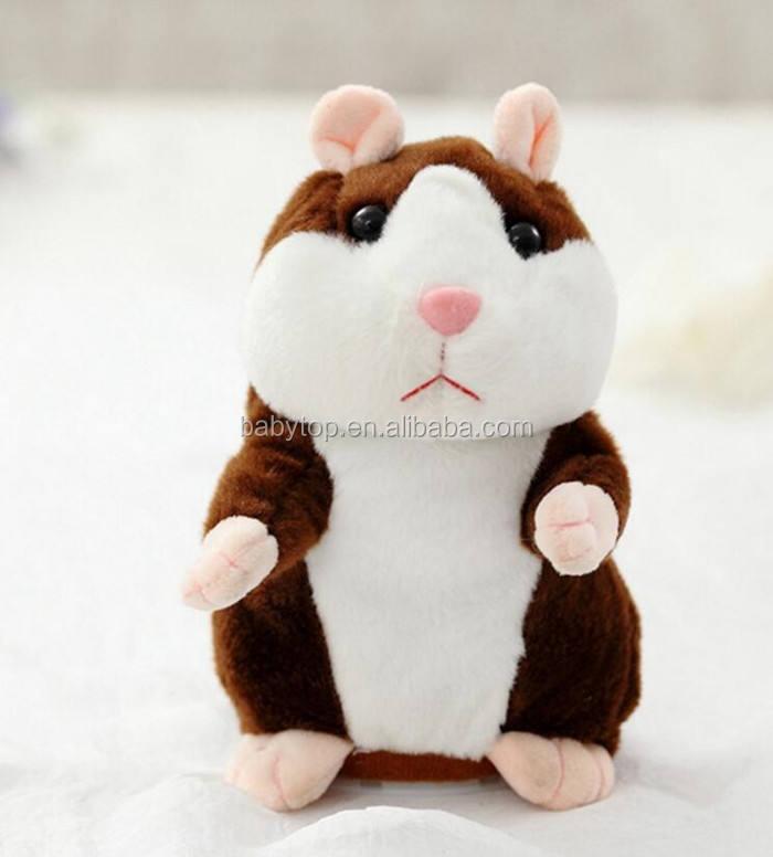 Acheter 2019 Parler Hamster Parler Son Record Répéter Hamster En Peluche Animal Enfants Enfant Jouet Parler Hamster En Peluche Jouets De Noël Cadeaux