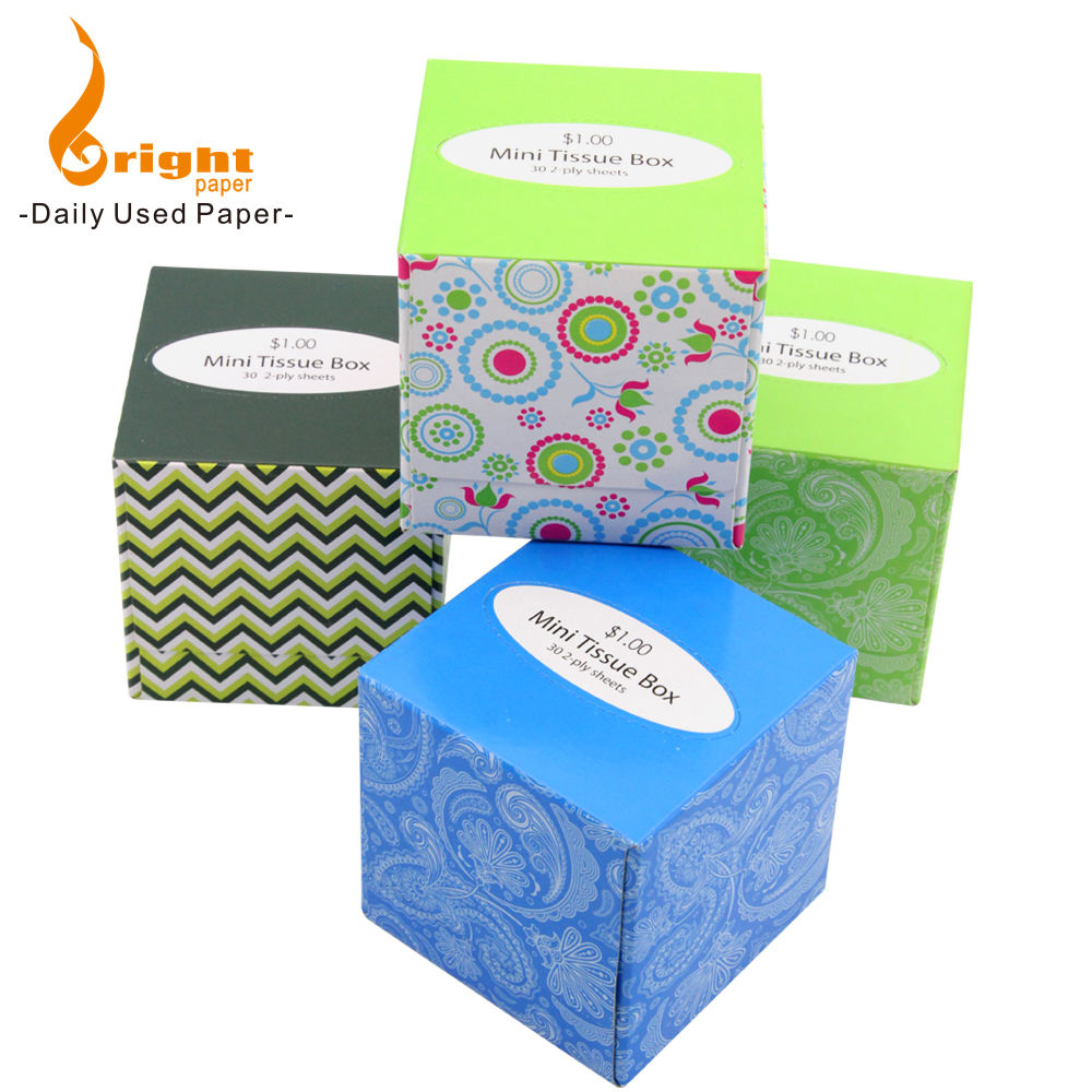Wholesale 2 Ply Small Cube Box Facial Tissue