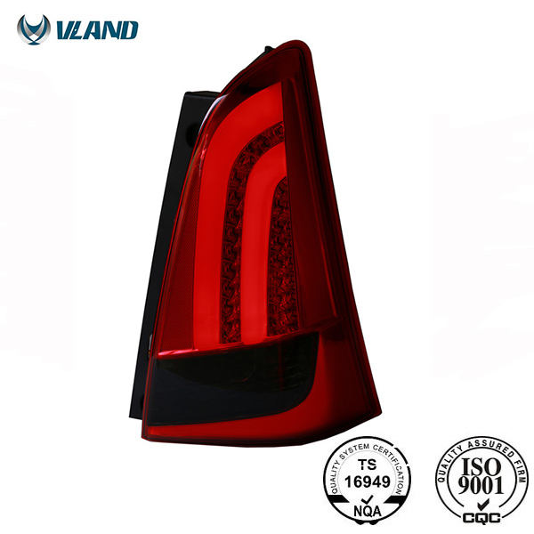 For Innova 2012-2014 LED Tail Lamp Red&Smoked Back Light Assembly