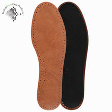 OEM ODM one size fits all classical business man pig skin comfortable anti-sweat anti bacterial odor deodorant shoe insole