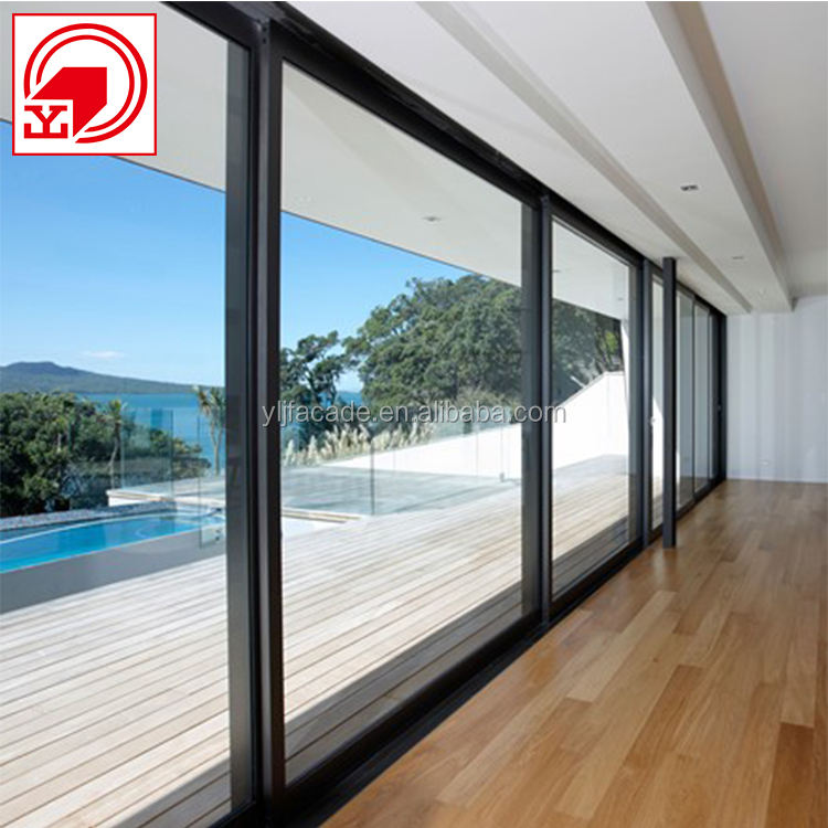 YLJ finely processed commercial automatic sliding glass doors