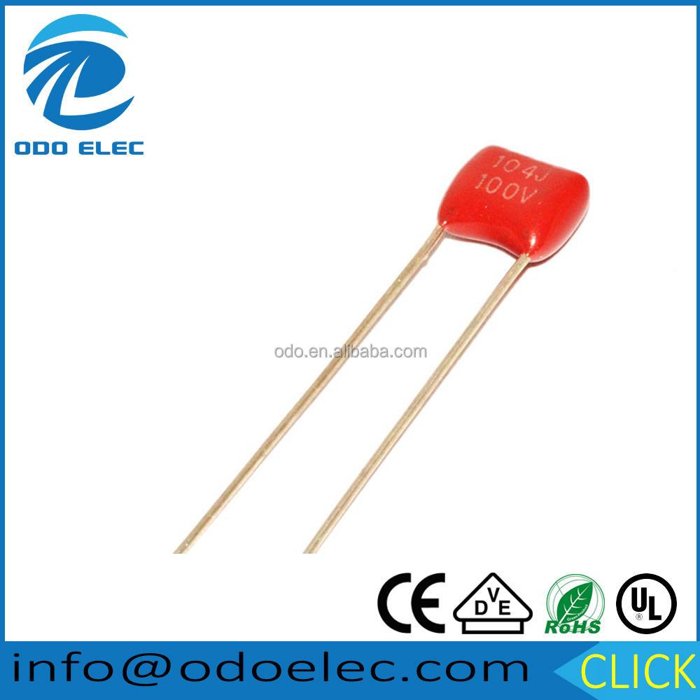 50pcs 0.0022 Uf 2.2 Nf 100 V 5/% Mylar capacitores de película 2a222
