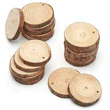 Wholesale Natural Round Wood Slices Christmas Ornaments Kids DIY Crafts