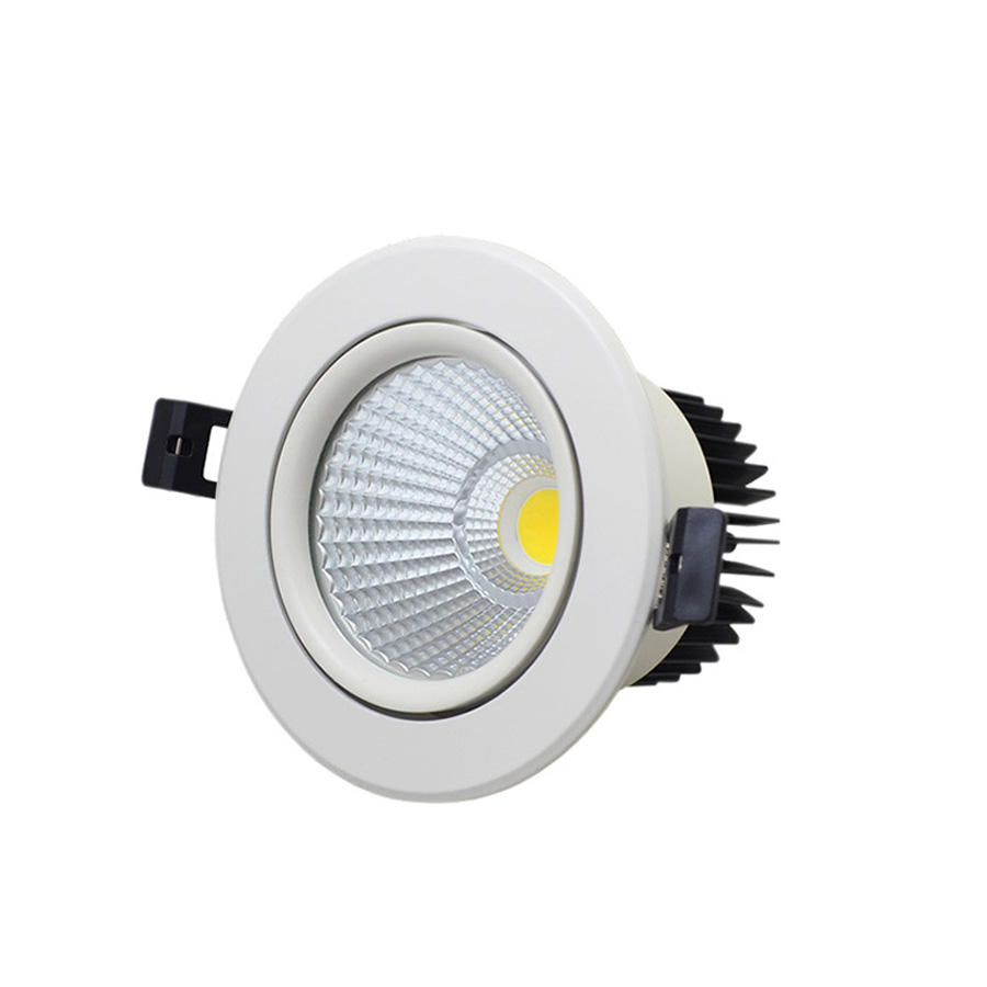 סופרמרקט תאורת COB עגול Dimmable צמודי שקוע 12w LED <span class=keywords><strong>Downlight</strong></span>,7w 15w 30w 40w מקורה led למטה אורות